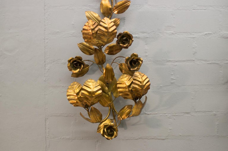 Pair of Huge Hollywood Regency Double Wall Lights by Hans Kögl, Germany, 1970s For Sale 2