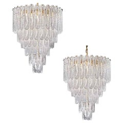 Pair of Huge Italian Murano Glass Chandelier