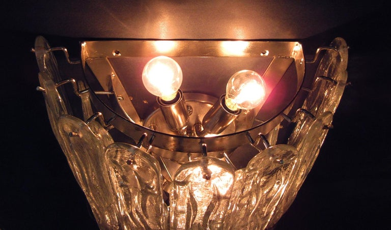 Pair of Huge Vintage Murano Wall Sconce, 27 Glasses 4