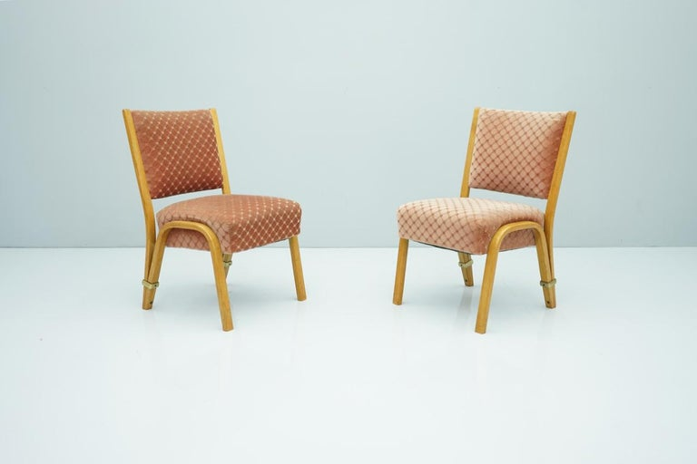 Pair of Hugues Steiner chairs France, 1950s. Good original condition.