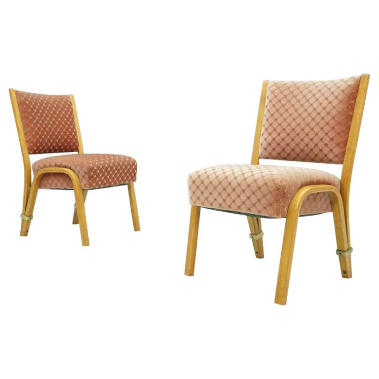 Pair of Hugues Steiner Chairs, France, 1950s For Sale