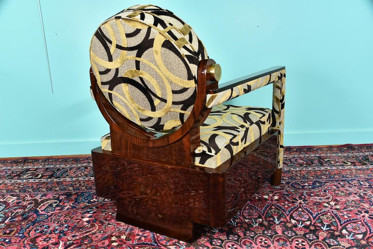 Hungarian Art Deco Armchair in Walnut For Sale 1