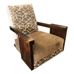 Hungarian Art Deco Armchair in Walnut