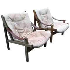 "Pair of ""Hunter Chairs"" by Torbjørn Afdal, Norwegian Mid-Century Modern"