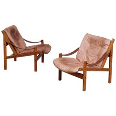 Pair of Hunter Easy Chairs by Torbjørn Afdal, 1960s