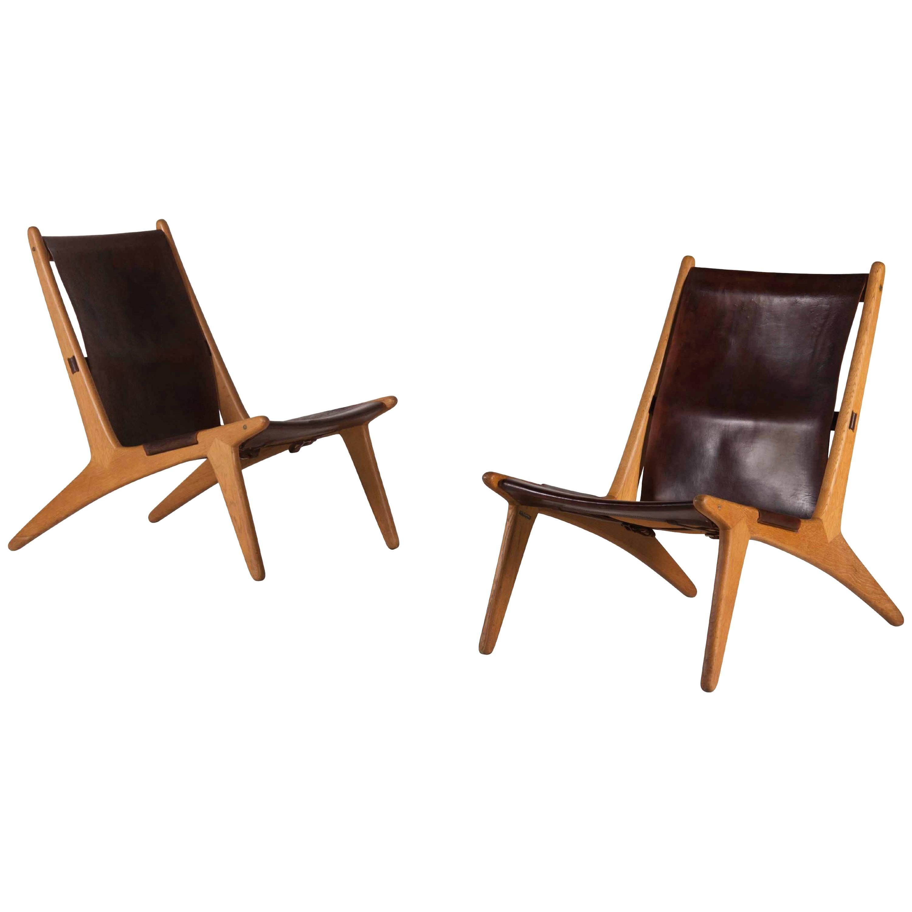 """Pair of """"Hunting Chair"""" Model 204 by Unar Osten Kristansson"""
