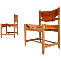 Pair of Hunting Dining Chairs, Model 3237 by Børge Mogensen for Fredericia