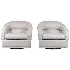 Pair of Huxley Swivel Chairs by Lawson-Fenning
