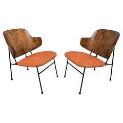 """Pair of Ib Kofod-Larsen Danish """"Penguin"""" Lounge Chairs, Circa 1960s"""