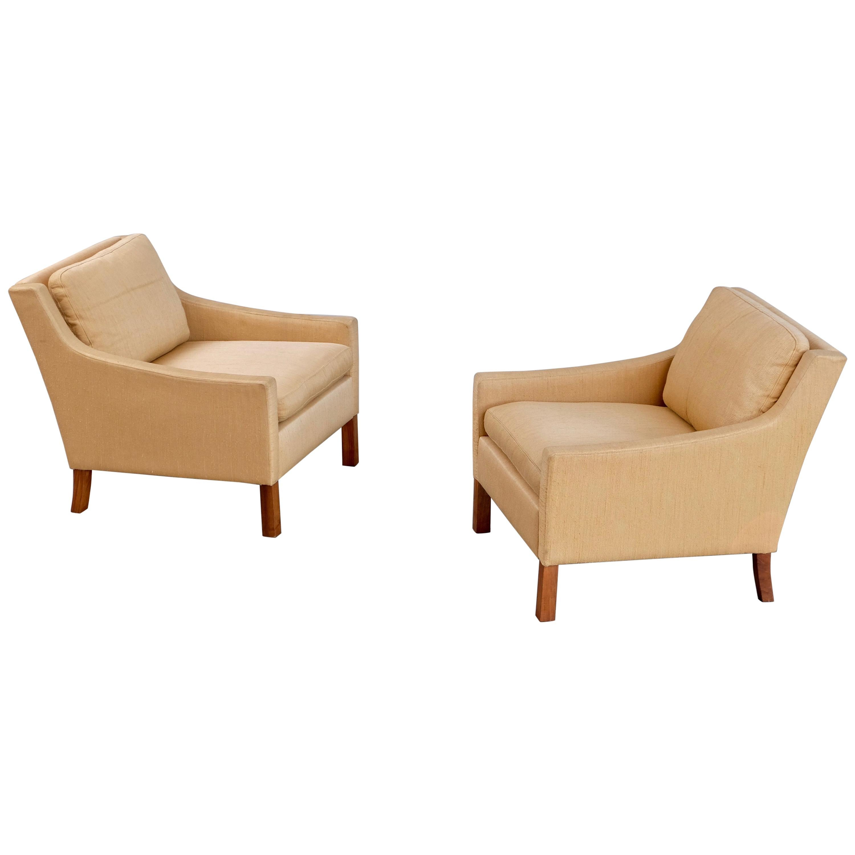 Pair of Ib Kofod-Larsen Easy Chairs by OPE, Sweden, 1960s