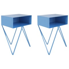 Blue Side Tables