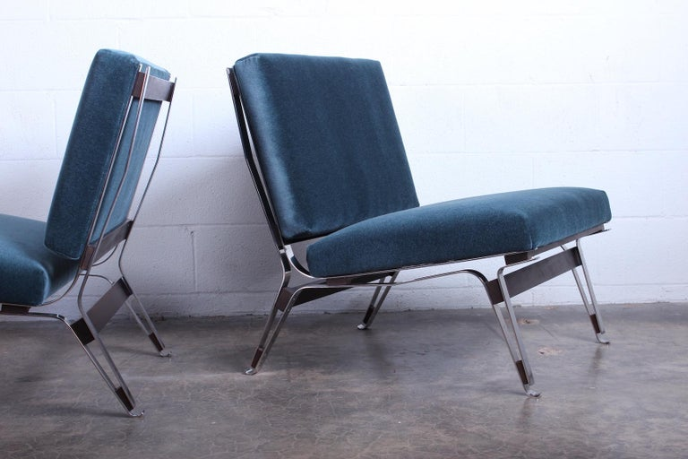 Pair of Ico Parisi 856 Lounge Chairs for Cassina In Good Condition For Sale In Dallas, TX