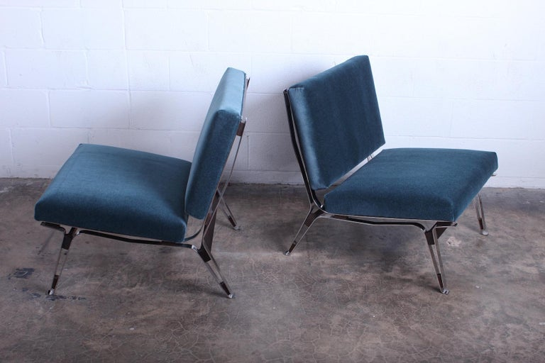Mid-20th Century Pair of Ico Parisi 856 Lounge Chairs for Cassina For Sale