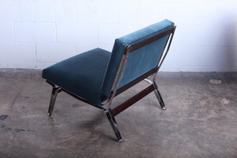 Mohair Pair of Ico Parisi 856 Lounge Chairs for Cassina For Sale