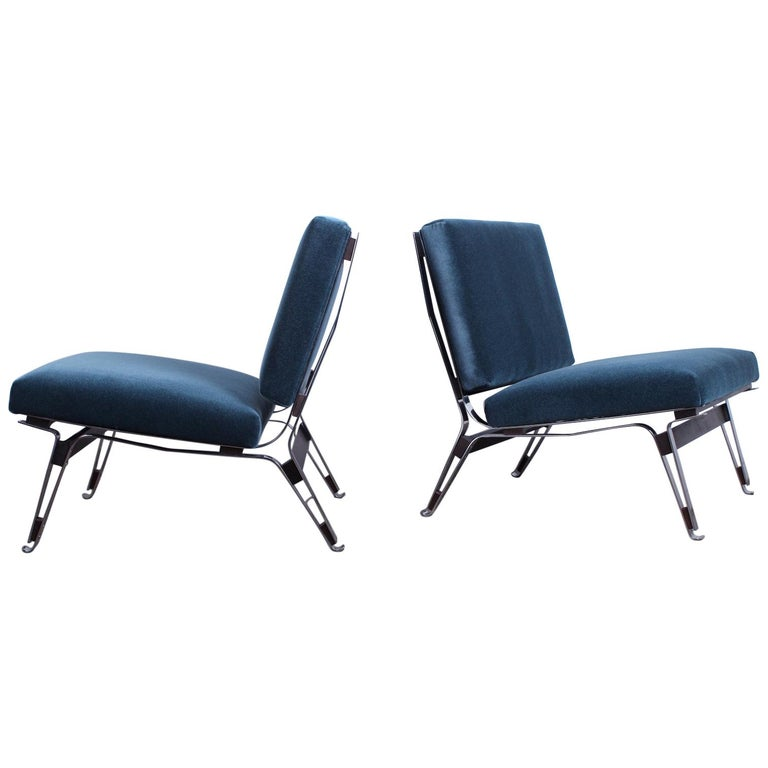 Pair of Ico Parisi 856 Lounge Chairs for Cassina For Sale