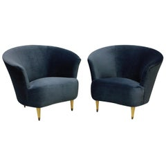 Pair of Ico Parisi Cocktail Chairs