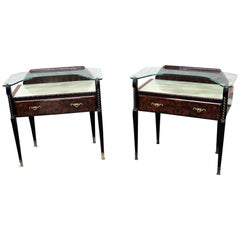 Pair of Ico Parisi Style Mid-Century Modern Side Tables