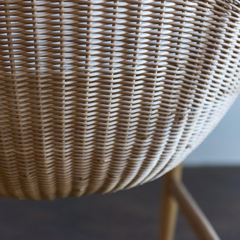 Pair of Iconic Basket Chairs by Nanna Ditzel, Denmark, 1950s For Sale 3