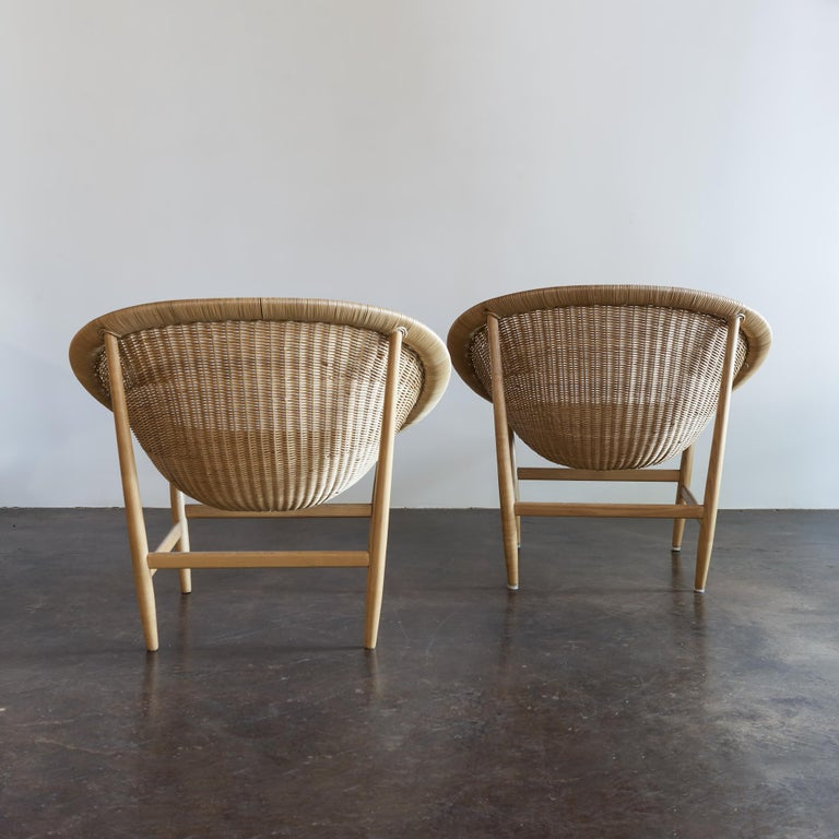 Mid-Century Modern Pair of Iconic Basket Chairs by Nanna Ditzel, Denmark, 1950s For Sale