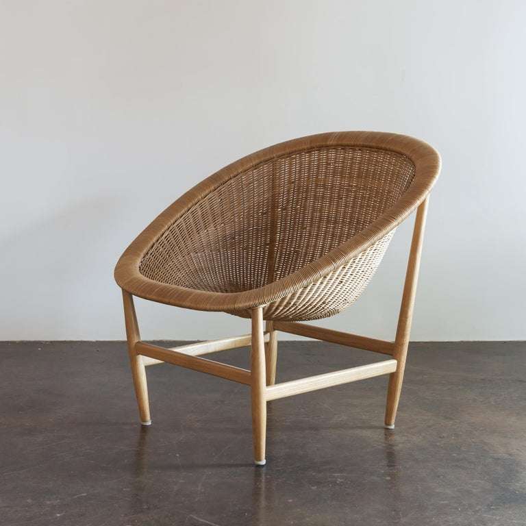 Danish Pair of Iconic Basket Chairs by Nanna Ditzel, Denmark, 1950s For Sale