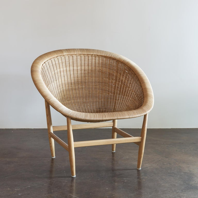 Hand-Woven Pair of Iconic Basket Chairs by Nanna Ditzel, Denmark, 1950s For Sale