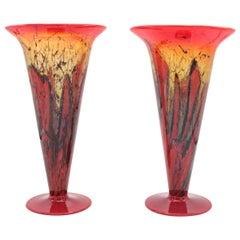 """Pair of """"Ikora"""" Crystal Vases by WMF"""