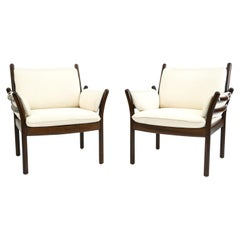 Pair of Illum Wikkelsø for CFC Silkeborg Lounge Chairs