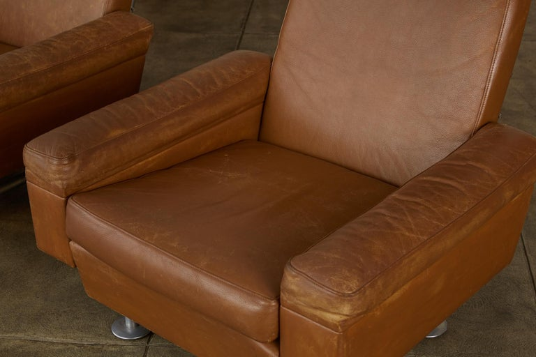 Pair of Illum Wikkelsø High-Backed Lounge Chairs for Ryesberg Møbler For Sale 2