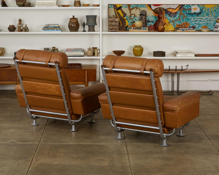 Danish Pair of Illum Wikkelsø High-Backed Lounge Chairs for Ryesberg Møbler For Sale