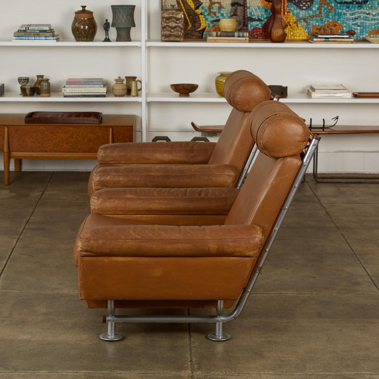 Pair of Illum Wikkelsø High-Backed Lounge Chairs for Ryesberg Møbler In Good Condition For Sale In Los Angeles, CA