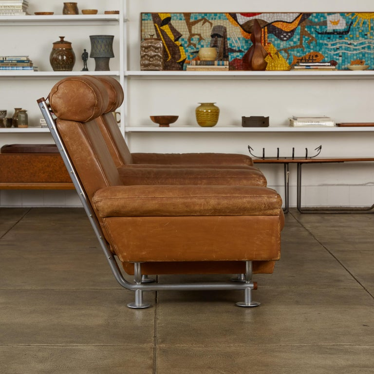 Mid-20th Century Pair of Illum Wikkelsø High-Backed Lounge Chairs for Ryesberg Møbler For Sale