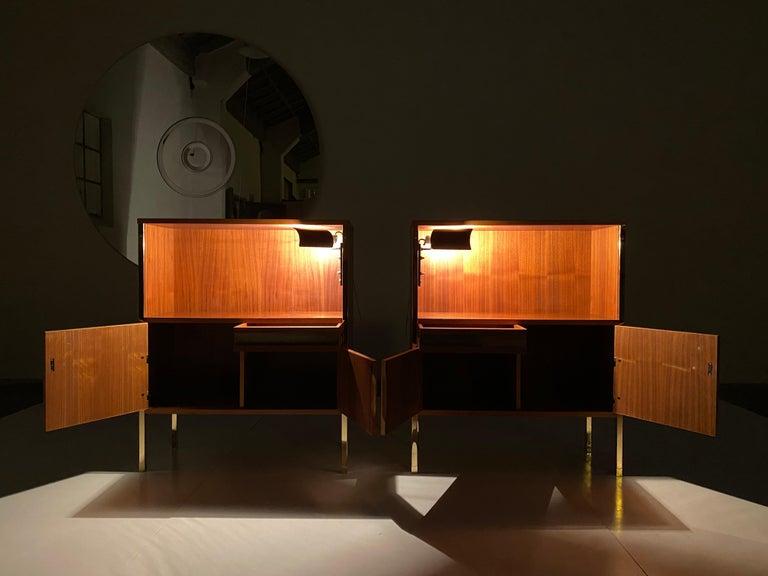 Illuminated Nightstands by Ico Parisi & Gino Sarfatti (Arteluce) for 'MIM', 1958 1