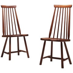 Pair of Ilmari Tapiovaara Attributed Walnut Chairs, Finland, 1960s