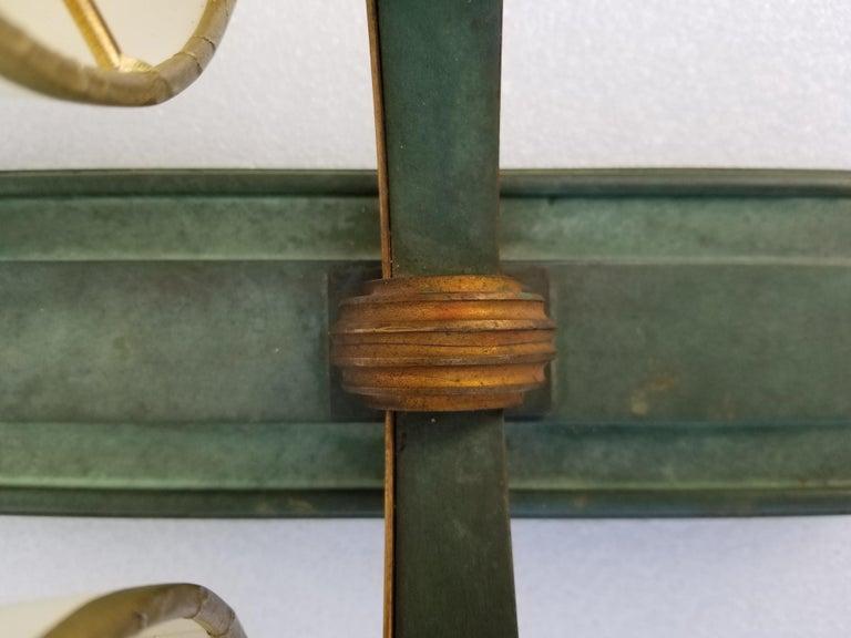 Pair of Important Genet & Michon Bronze Sconces For Sale 10