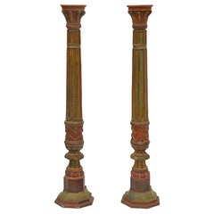 Pair of Impressive French 19th Century Napoleon III Torchère Columns