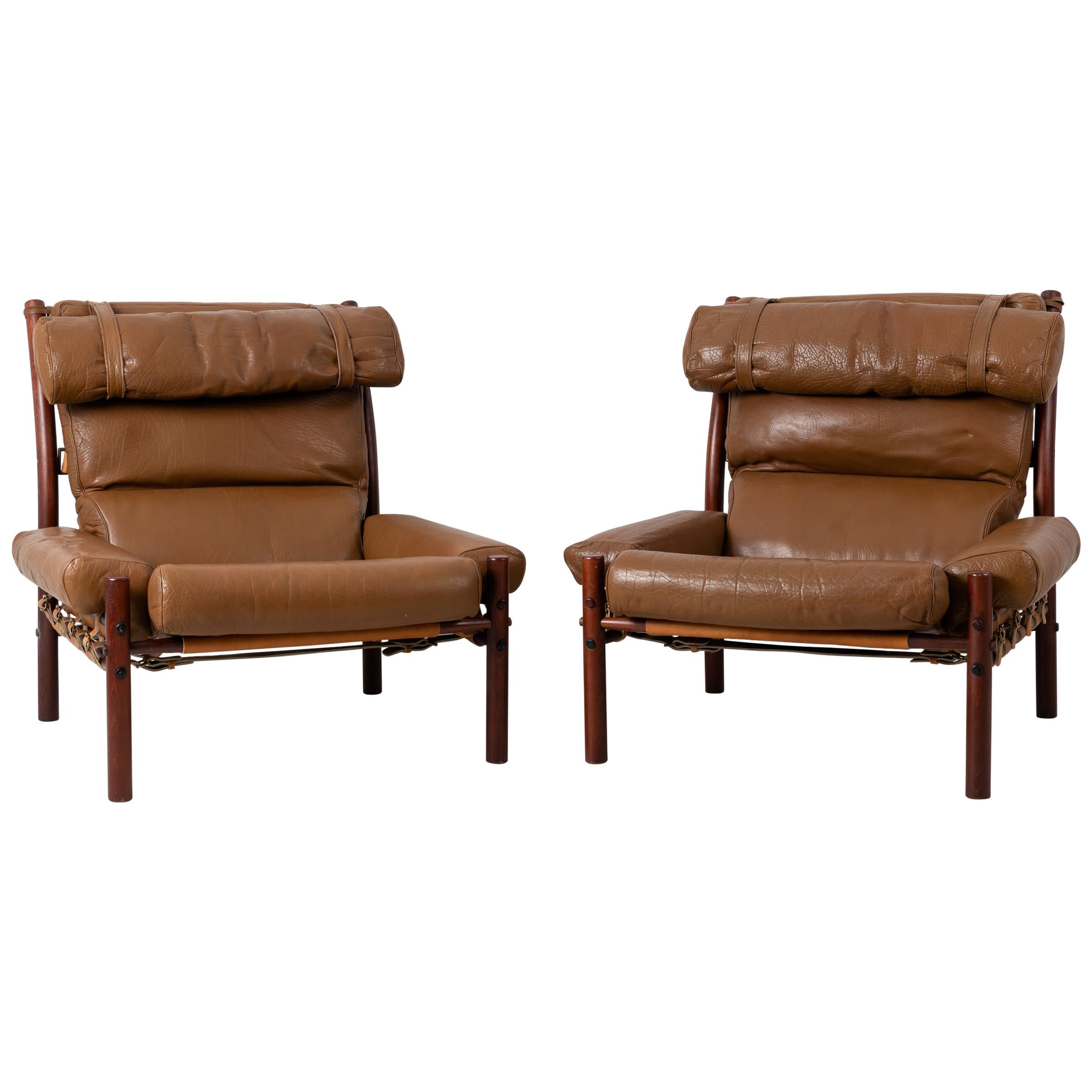 Pair of Inca Armchairs by Arne Norell