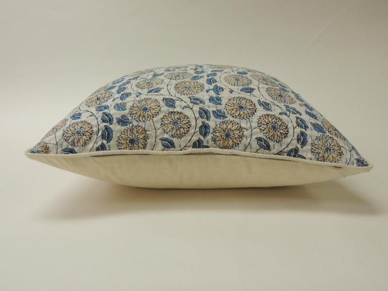 Moorish Pair of Indian Blue and White Quilted