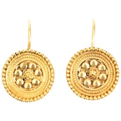 Pair of Indian Button Earrings