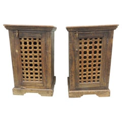 Pair of Indian Rustic Cabinets