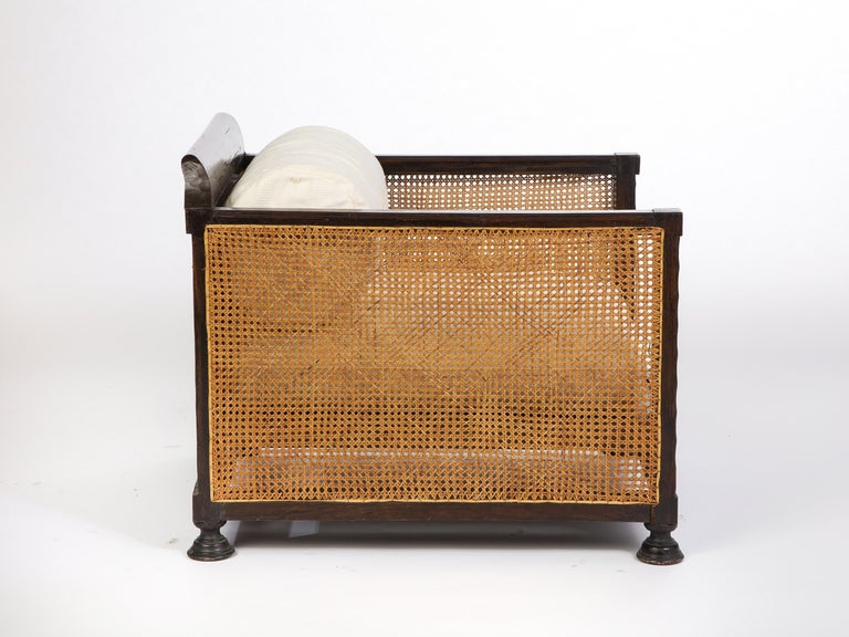 Pair of Indonesian 'Art Deco' Wood and Caned Armchairs, 20th Century For Sale 7