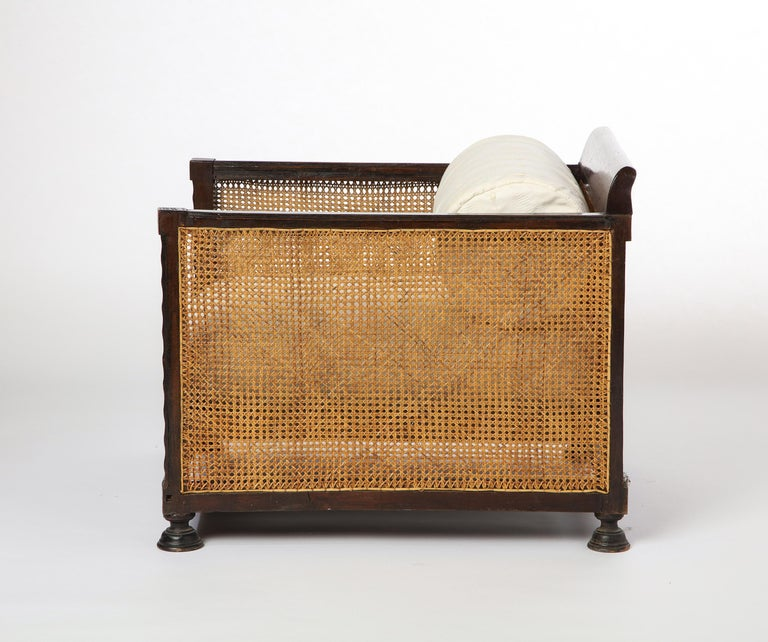 Pair of Indonesian 'Art Deco' Wood and Caned Armchairs, 20th Century For Sale 1