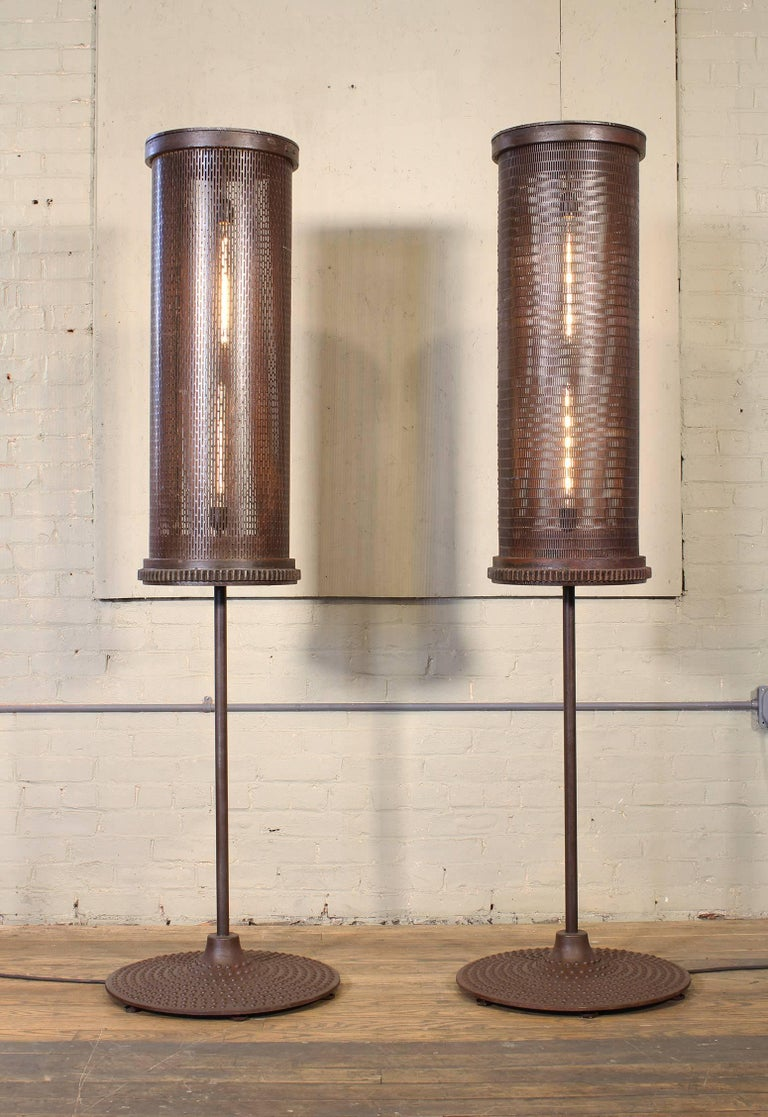 Contemporary 6' Industrial Floor Lamps For Sale
