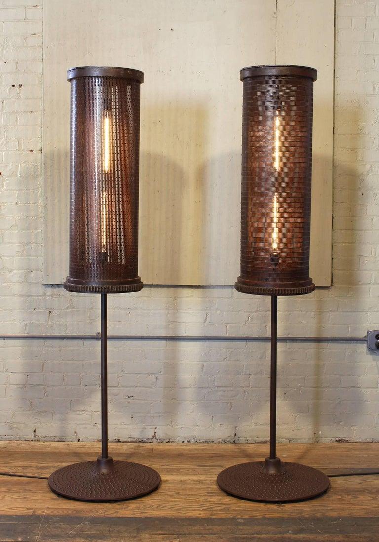 Steel 6' Industrial Floor Lamps For Sale