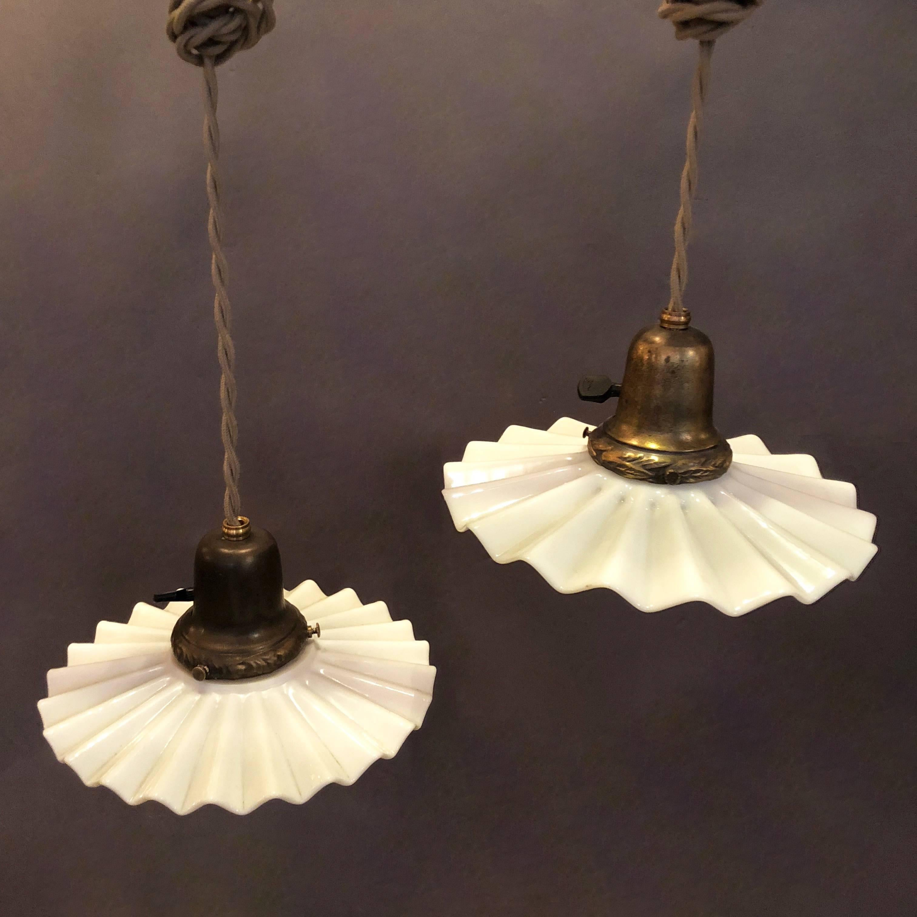 mezzega chairish brass glass chandeliers murano white milk vintage and chandelier spiral collection torciglione used tiered