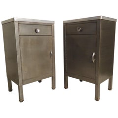 Pair of Industrial Side Cabinets