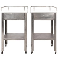 Pair of Industrial Side Tables
