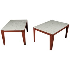 Pair of Industrial Side Tables from France, circa 1930