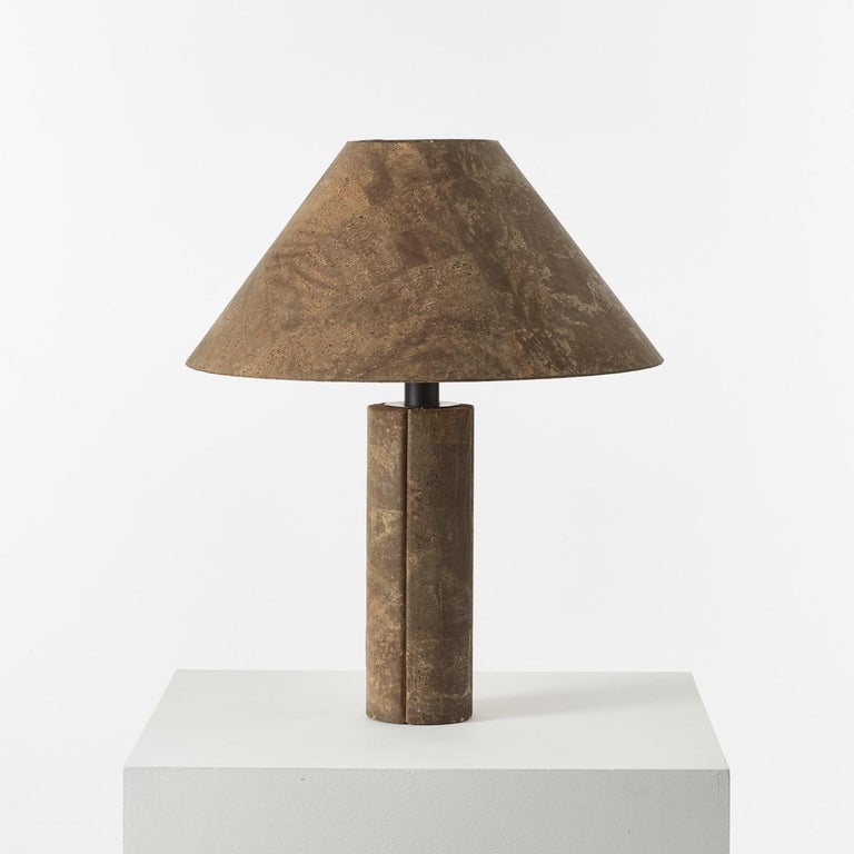 Late 20th Century Pair of Ingo Maurer Cork Lamps for Design M, Germany, 1974 For Sale