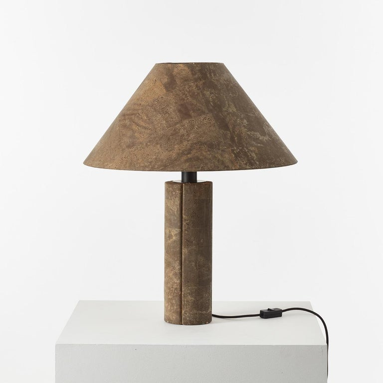 Pair of Ingo Maurer Cork Lamps for Design M, Germany, 1974 For Sale 1