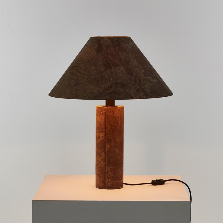 Pair of Ingo Maurer Cork Lamps for Design M, Germany, 1974 For Sale 2
